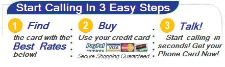 Buy prepaid phone cards and international calling cards